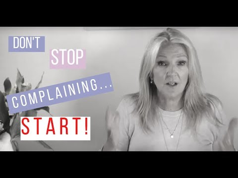 Learn how to complain